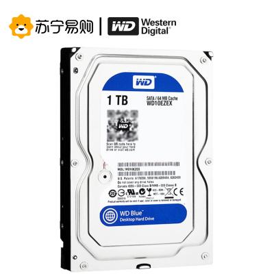 西部数据(WESTERN DIG) WD 蓝盘 1TB SATA3 6Gb/s 7200转64M 3.5英寸台式机械硬盘