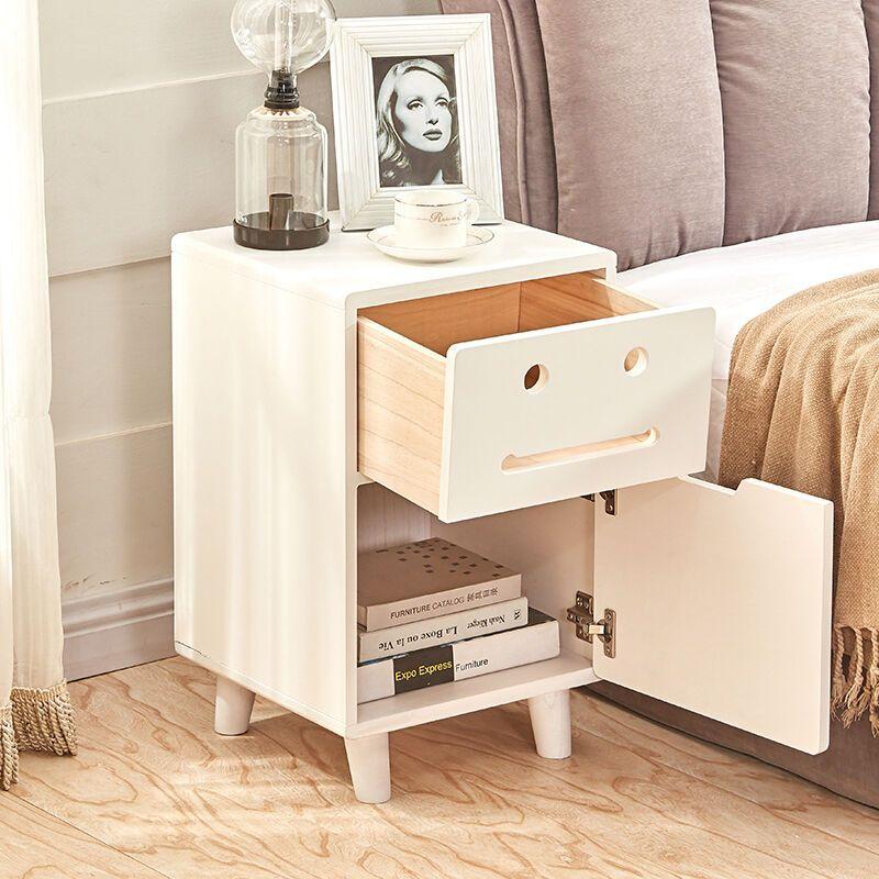 柒小木家具 床头柜简约现代白色迷你出口儿童可爱收纳