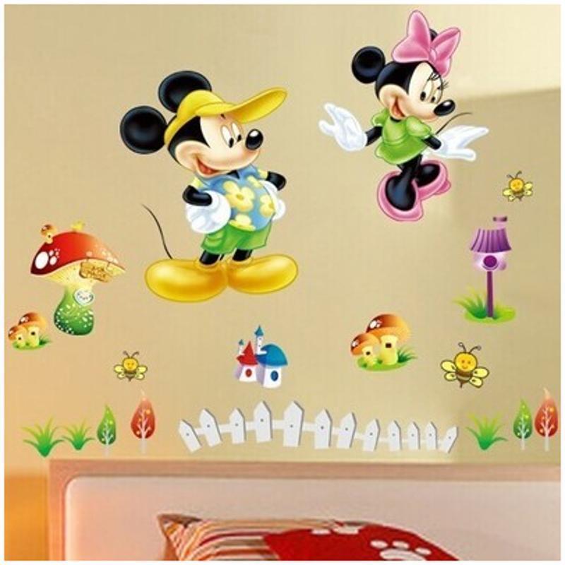 宜佳蕙可爱卡通动物宝宝墙贴纸 幼儿园儿童房卧室双面