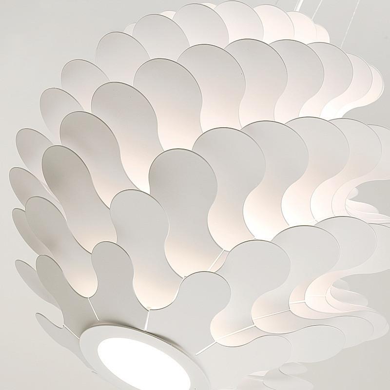 北欧简约后现代千叶片个性创意客厅楼梯餐服装店松果艺术设计吊灯图片