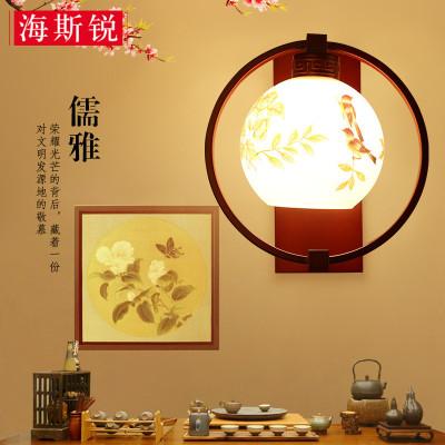 新中式壁灯 现代简约墙壁灯复古铁艺床头壁灯