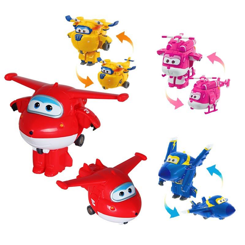 奥迪双钻超级飞侠儿童玩具迷你变形机器人 迷你款主角4只套装 乐迪 小