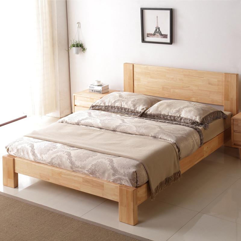 硕木居 全实木床原木家具单人1.5特价双人床头1.