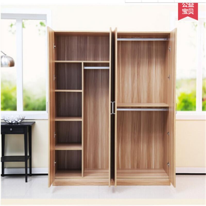 碩木居 衣柜簡易宜家衣柜實木質板式組合整體衣柜2門3門4門大衣柜兒童