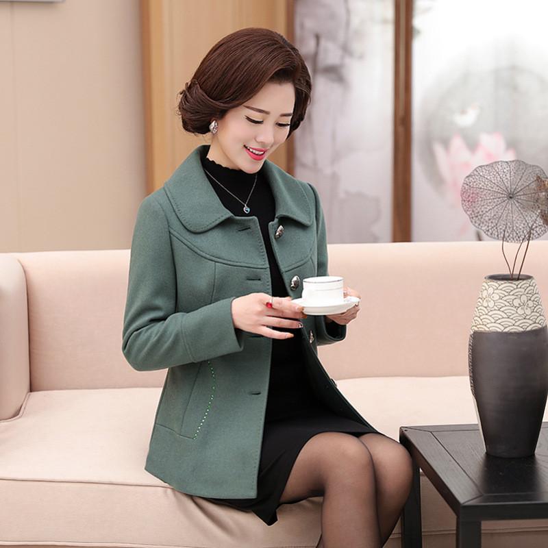 中老年短外套服装毛呢外套春天40-50岁中年女妈妈装春装呢子上衣图片