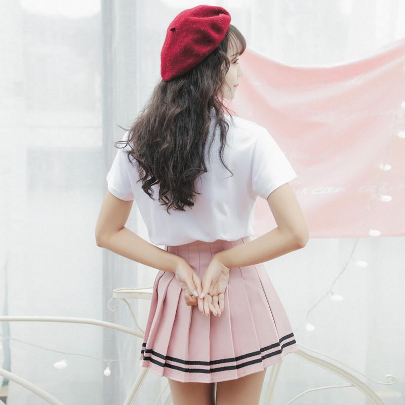 可爱套装裙少女学院风日系小清新韩版学生软妹闺蜜装两件套连衣裙