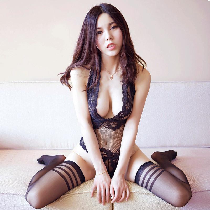 性感睡衣女夏性感内衣服火辣超薄魔法控深透明诱蕾丝连体睡裙无袖成人情趣黑图片
