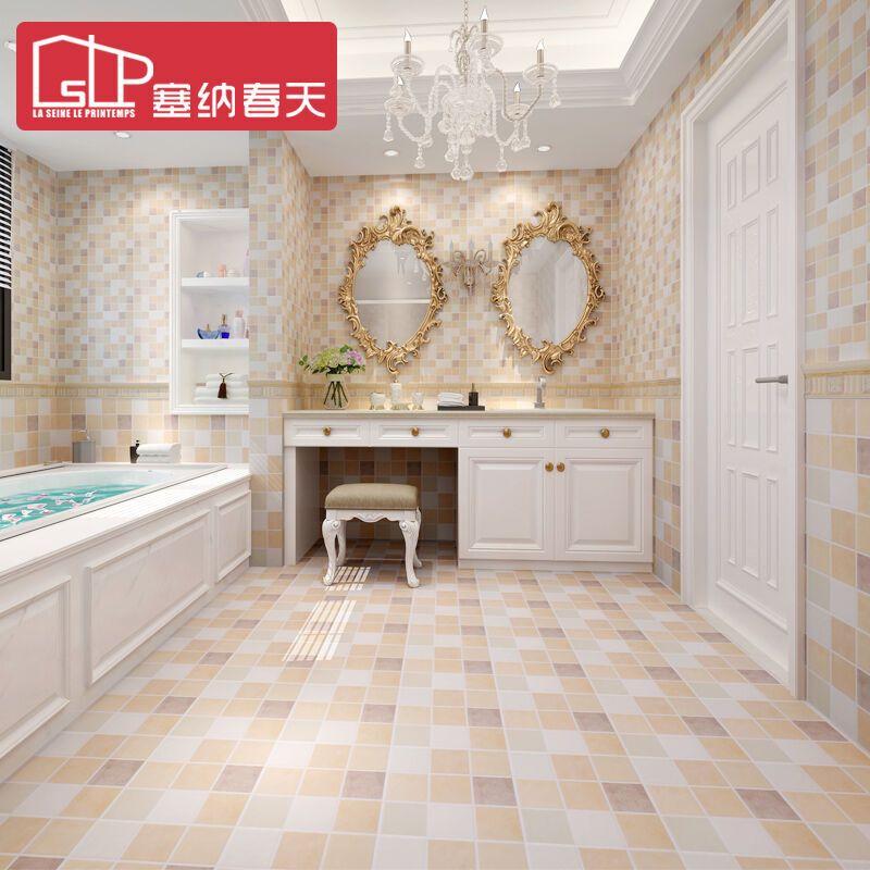 塞纳春天 瓷砖 厨房卫生间地板砖 仿古文化砖厨卫地砖