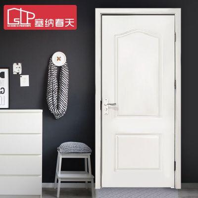 塞納春天木門室內門實木復合烤漆房門臥室門型號D-117 標準門