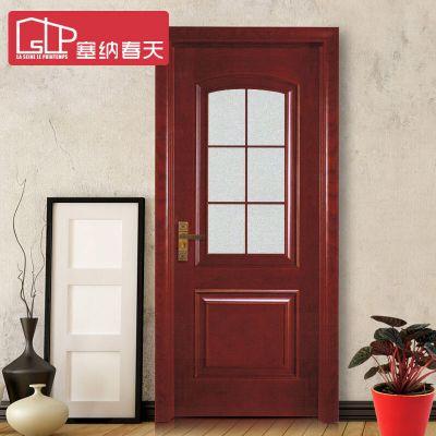 塞納春天實木門造型門室內套裝門實木復合烤漆房門臥室門型號040