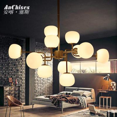 安喀塞斯 北欧极简会所工作室创意灯具后现代简约咖啡厅客厅吊灯图片
