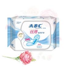 ABC丝薄棉柔普通型护垫22片
