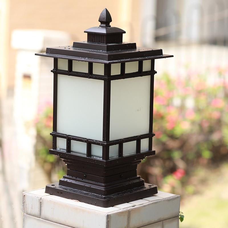 欧式户外柱头灯美式别墅花园庭院柱子围墙灯小区防水大门柱led灯