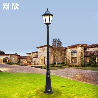 欧式复古庭院灯小区别墅花园草地灯铝材防锈路灯杆户外防水景观灯