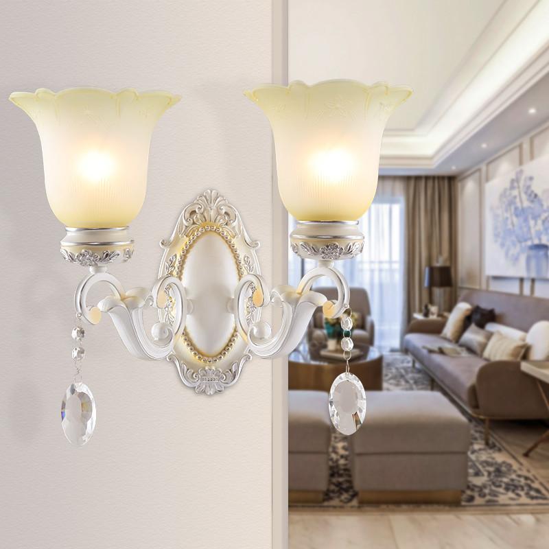 佳乐士 欧式壁灯 客厅电视背景墙壁灯 美式床头彩绘艺术壁灯 现代铁艺