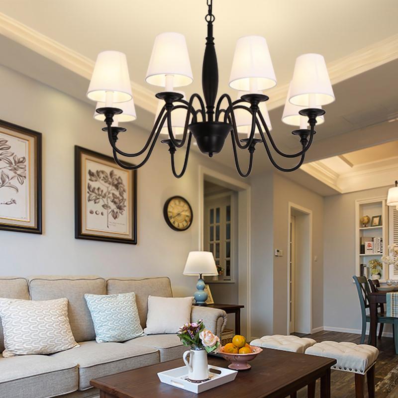 左革灯饰美式吊灯客厅包安装北欧简约餐厅卧室灯欧式复古现代乡村铁艺图片