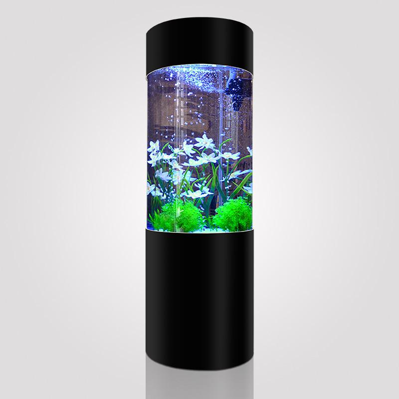斯博佳 客厅圆柱鱼缸亚克力中型生态圆柱形鱼缸圆形上
