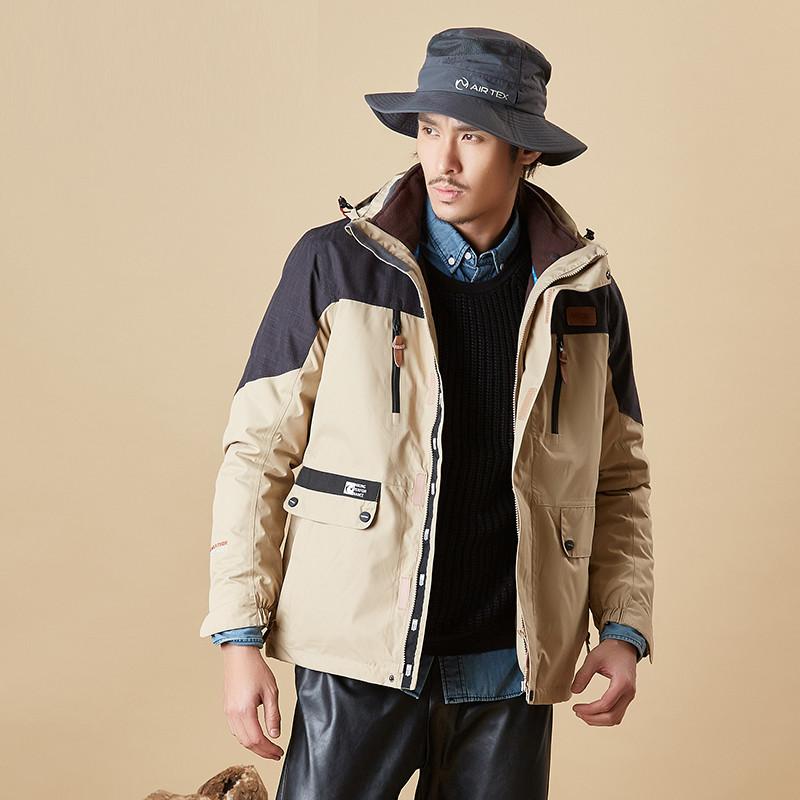 沖鋒衣男士秋冬季保暖加絨加厚登山服戶外防風防水戶外衣服6058圖片
