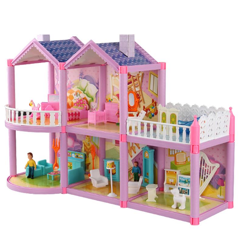 别墅房子积木益智拼搭儿童玩具 自建别墅芭比娃娃屋公主城堡