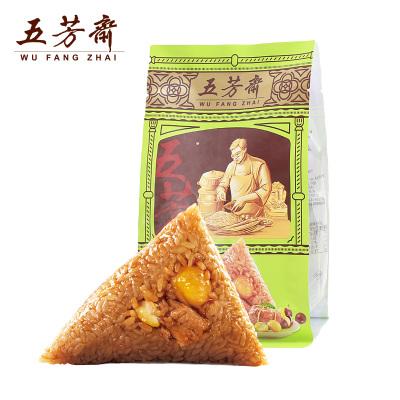 嘉兴特产五芳斋粽子栗子肉粽 真空140克*2共280g 板栗鲜肉粽
