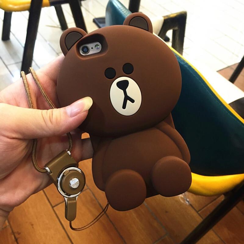 聆听iphone6/6s可爱小熊手机壳苹果7/7plus卡通硅胶手机套防摔日韩女