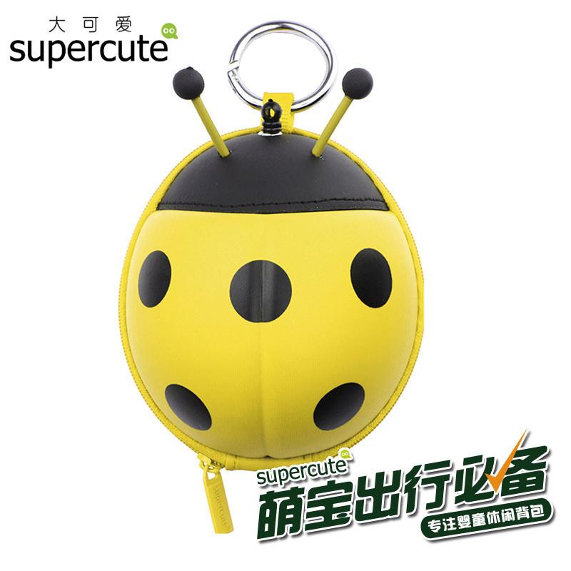 动物瓢虫个性拉伸式卡包【黄色】 卡通eva硬壳潮包包幼儿园小学学生