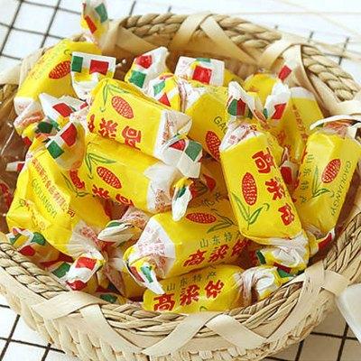 正宗高粱饴糖一斤山东特产怡糖软糖 麦芽糖 喜糖 零食糖果 儿时回忆童年口味500g山东特产(拍2发3)