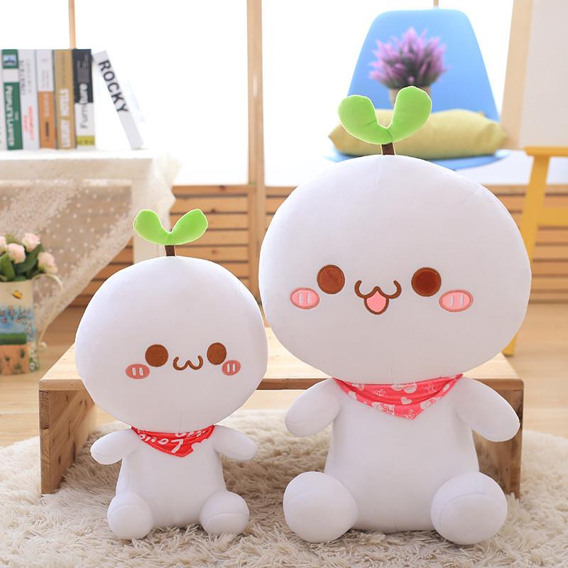 可爱长草颜团子公仔多表情颜文字抱枕毛绒玩具情人节礼物送女友