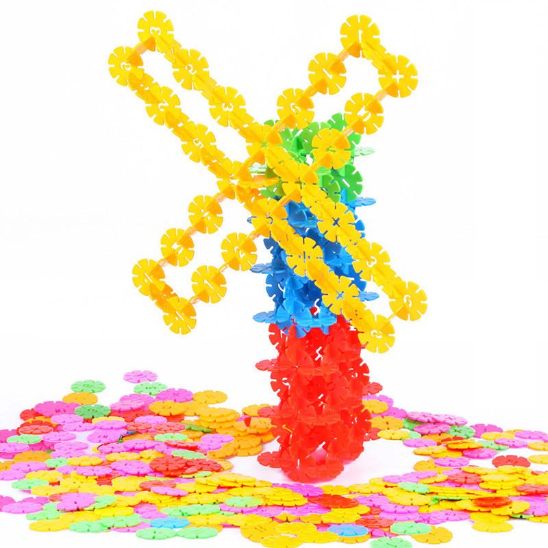 北国e家 儿童智力早教益智玩具 雪花片积木拼图玩具
