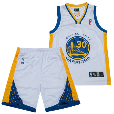 男士儿童款篮球服套装勇士队30号库里运动服篮球衣成人儿童金州勇士队库里短袖背心短裤