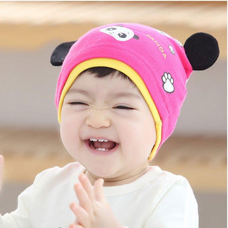 男宝宝女宝宝通用套头帽子宝宝套头帽男女童婴儿帽子韩国潮可爱童帽