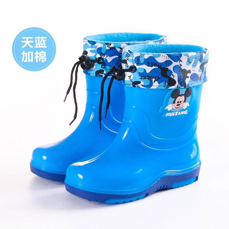 儿童雨鞋男童女童宝宝防滑儿童雨靴水鞋胶鞋2017新品简约可爱卡通小清