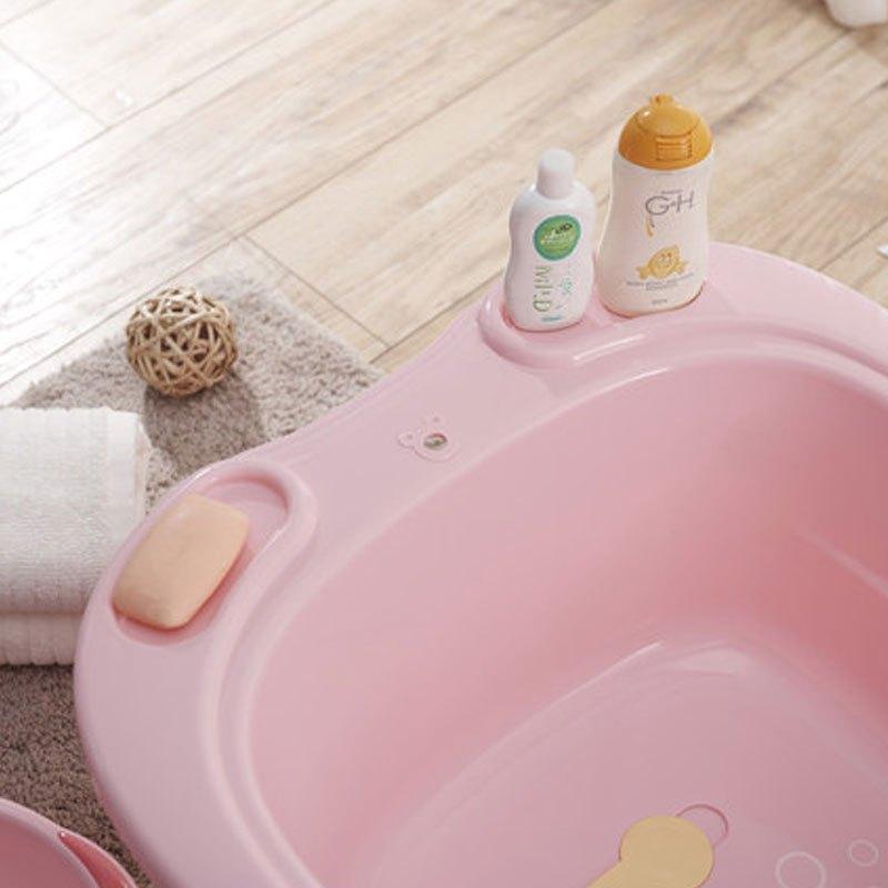 婴儿浴盆小孩儿童沐浴洗澡盆厚新生儿用品宝宝大号款坐躺两用2017新品