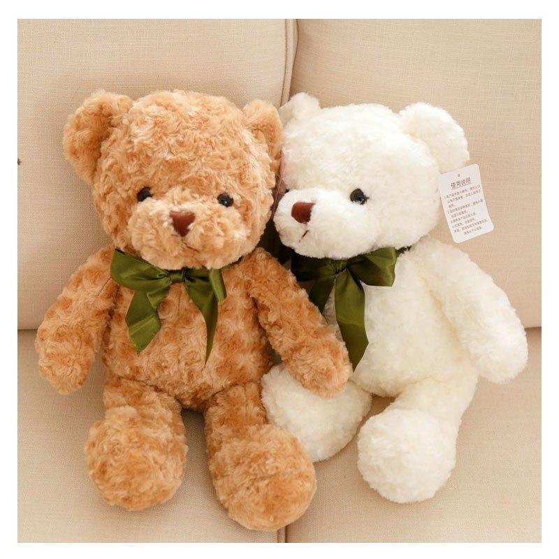 男女宝宝可爱玩具丝巾泰迪熊抱抱熊毛绒玩具公仔熊小.