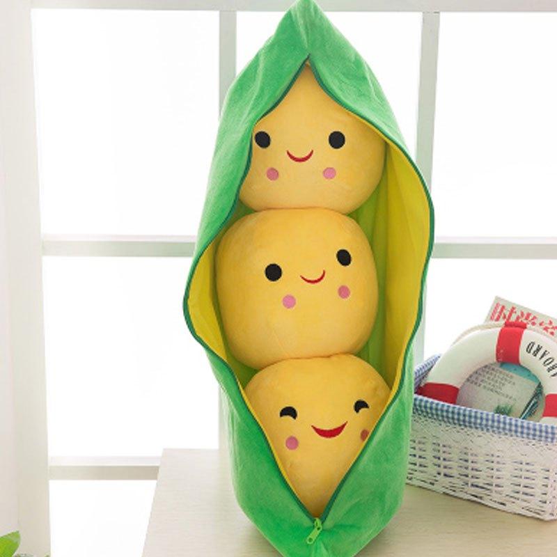豌豆荚毛绒玩具抱枕创意布娃娃玩偶生日礼物女孩小孩子靠垫可爱卡通可