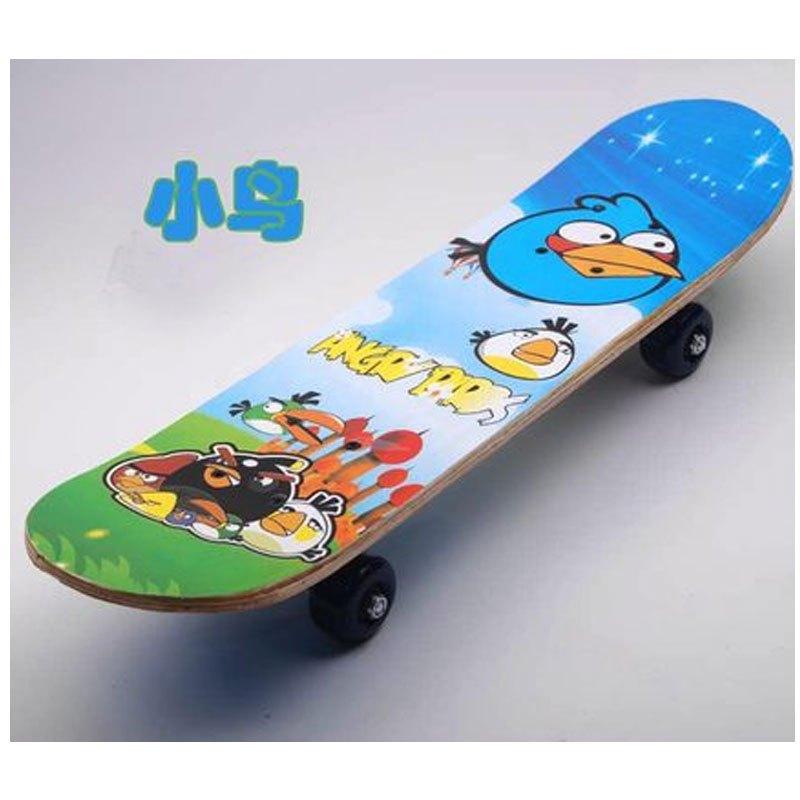 四轮卡通小朋友滑板 双面图案简约小清新多款多色可选