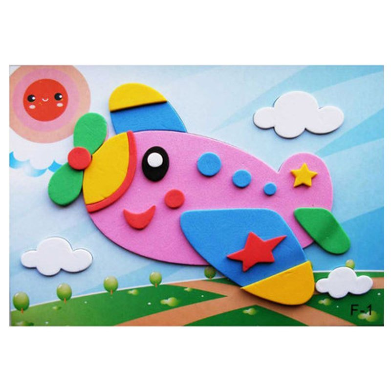 初级入门立体贴画3d粘贴纸 儿童手工制作diy益智玩具材料包当季新品
