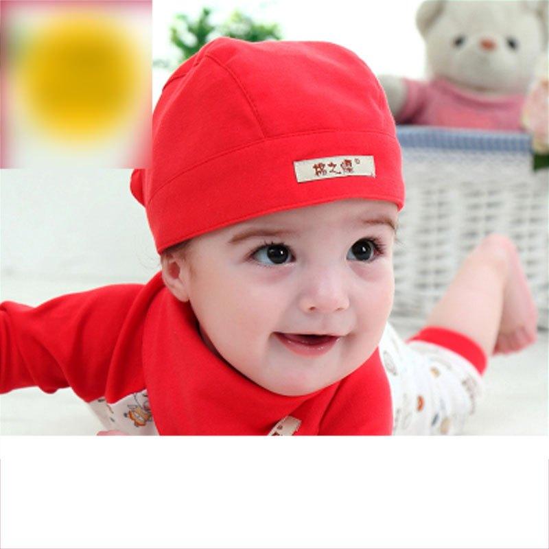 婴儿帽子春秋冬夏季薄款0-3个月新生儿6-12头巾海盗帽男宝宝韩版当季