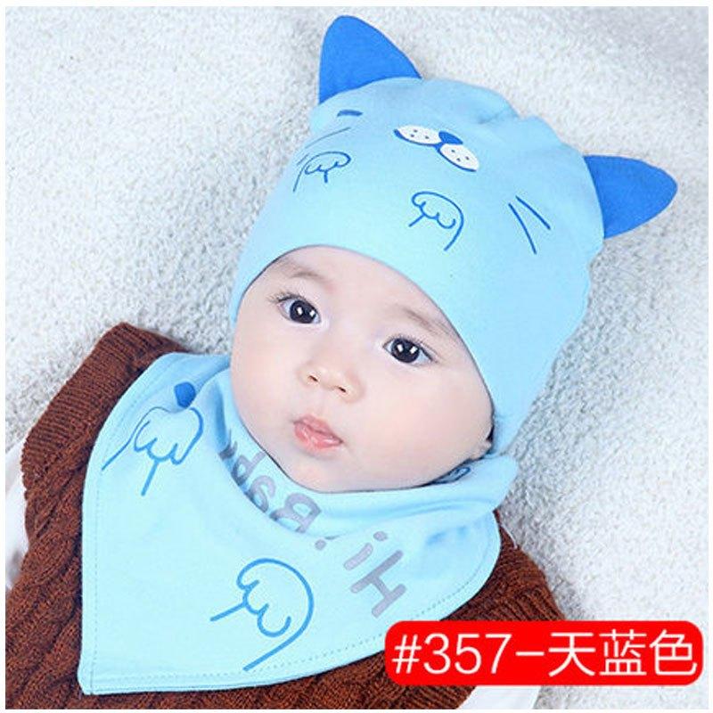 男童胎帽女宝宝帽夏季薄款新生儿帽当季新品可爱卡通简约小清新帽子