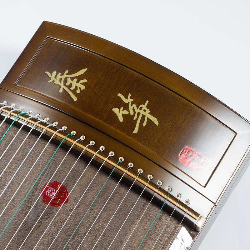 龙凤牌古筝初学者考级演奏筝工艺筝诗韵天地楠木实木乐器手工制作雕刻