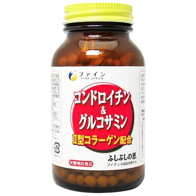 日本进口 FINE正品中老年氨糖软骨素加钙片545片/瓶装 鲨鱼软骨素 82