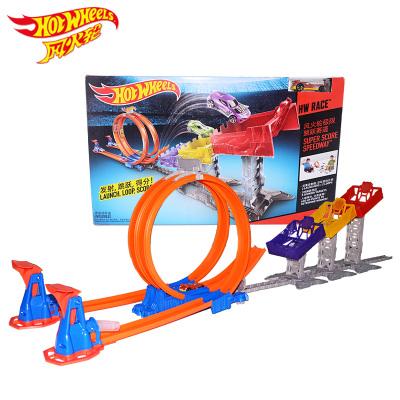 风火轮Hotwheels火辣小跑车极限跳跃赛道DJC05(内含1辆小跑车)赛车轨道男孩玩具