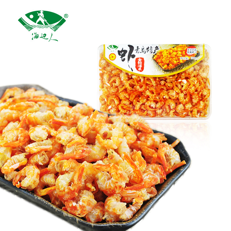 海边人 青岛特产金钩海米100g虾仁干货海味休闲零食虾