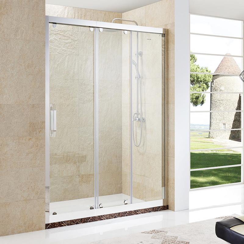 三联动门_迪玛整体淋浴房浴室304不锈钢三联动门洗手间定制一字