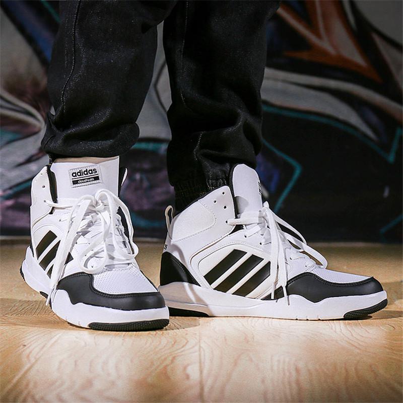 adidas阿迪达斯 男鞋2017新款 neo 运动鞋高帮保暖休闲鞋板鞋|aw3940图片