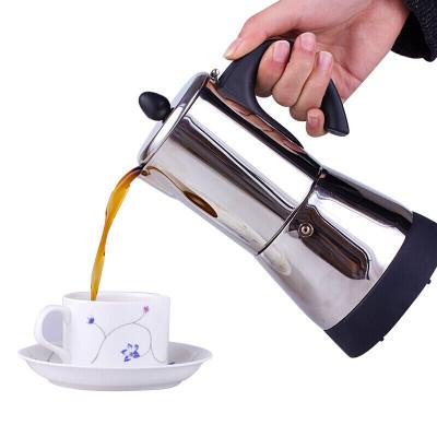 古达 摩卡壶电热煮咖啡壶欧式不锈钢咖啡壶 4人份咖啡用品