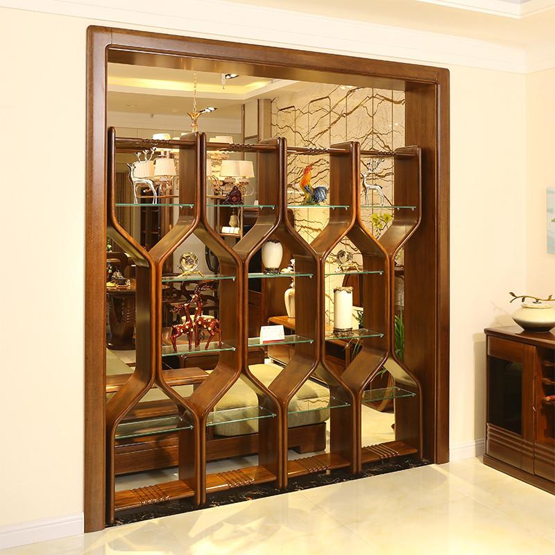 淮木 博古架饰品架子 现代中式实木隔断架 古董架 简约欧式酒架