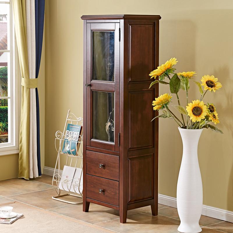 淮木(huaimu)美式乡村实木酒柜电视柜组合餐边柜储物柜子双开门客厅家