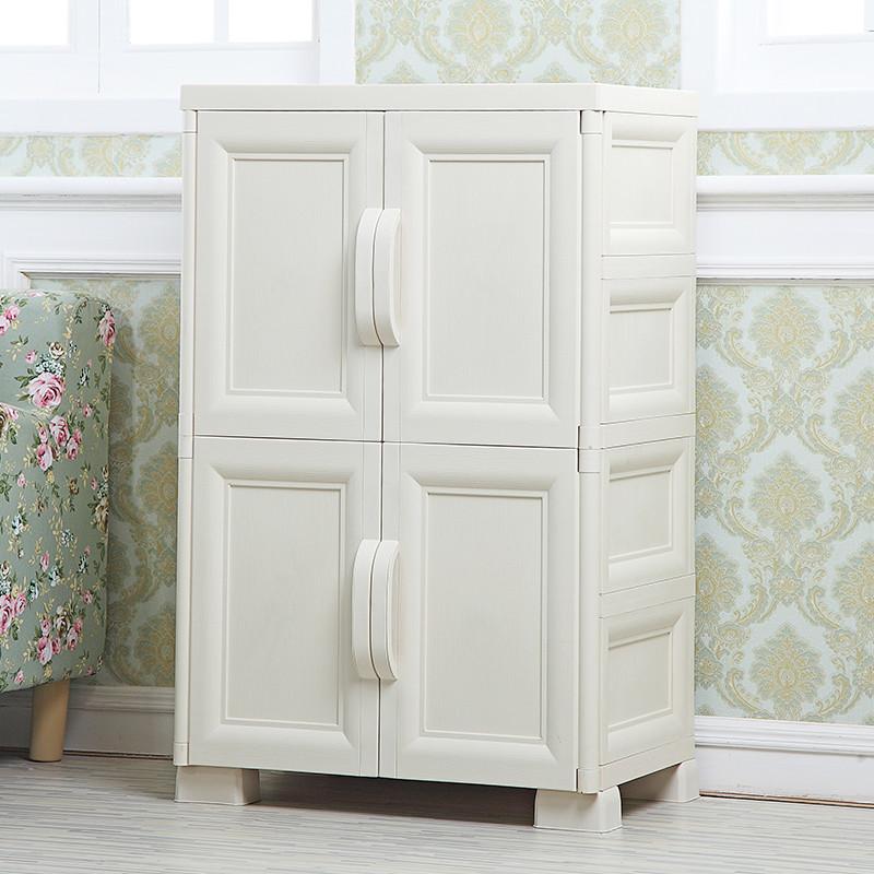 淮木(huaimu)欧式双开门多层抽屉式宝宝衣柜儿童整理柜塑料收纳柜子储图片