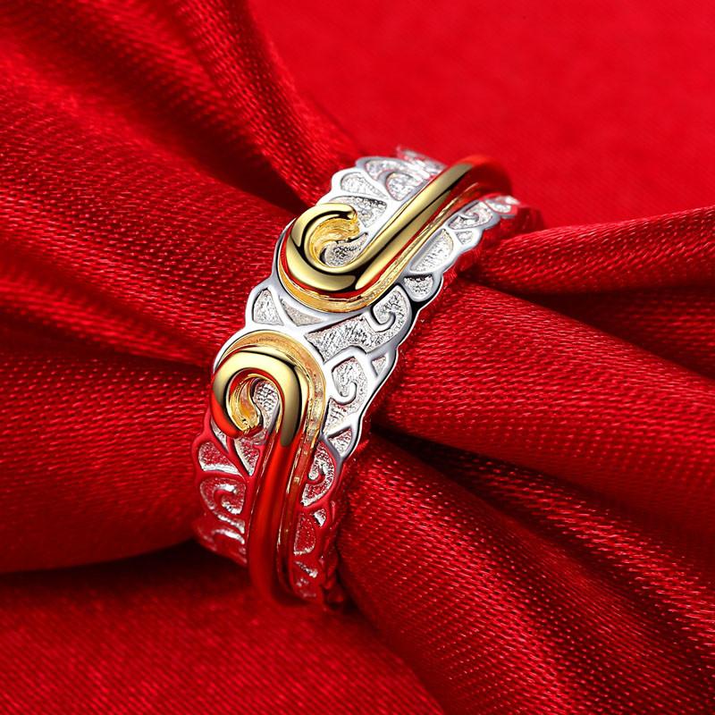 彩丽馆银饰s990足银金箍咒情侣戒指 对戒 男女式 爱你